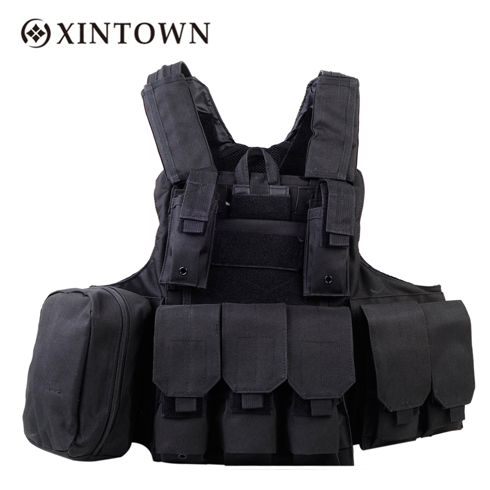 Tactical Hunting Vest Men Breathable Combat Army Training Durable CS Field Game Military Vests Ourdoor Equipment 2 Colors airsoft adults cs field game skeleton warrior skull paintball mask