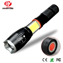 PanYue A100 upgrade COB Led flashlight 1000lums tactical XML T6 Lanterna torch hidden COB flash light tail magnet design panyue multifunction led flashlight 8000 lumens xml t6 l2 torch hidden cob design flashlight tail super magnet design