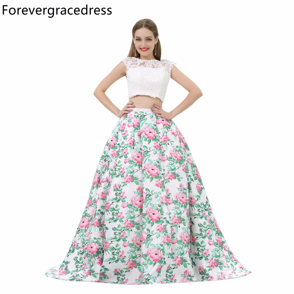 Forevergracedress Gorgeous A Line   Prom     Dress   Sexy Two Pieces Backless Long Homecoming Evening Party Gown Plus Size Custom Made