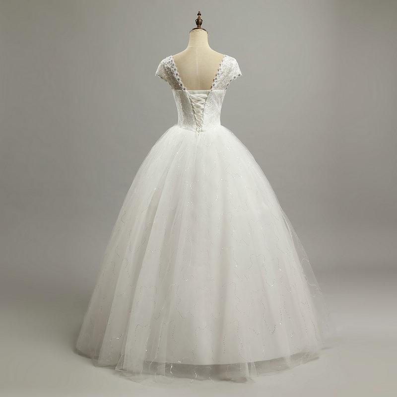 6e136644964 LAMYA Elegant Cheap Lace Wedding Dress 2018 Fashion Short Bride Gowns  Crystal Bridal Dresses Plus Size vestido de noiva-in Wedding Dresses from  Weddings ...