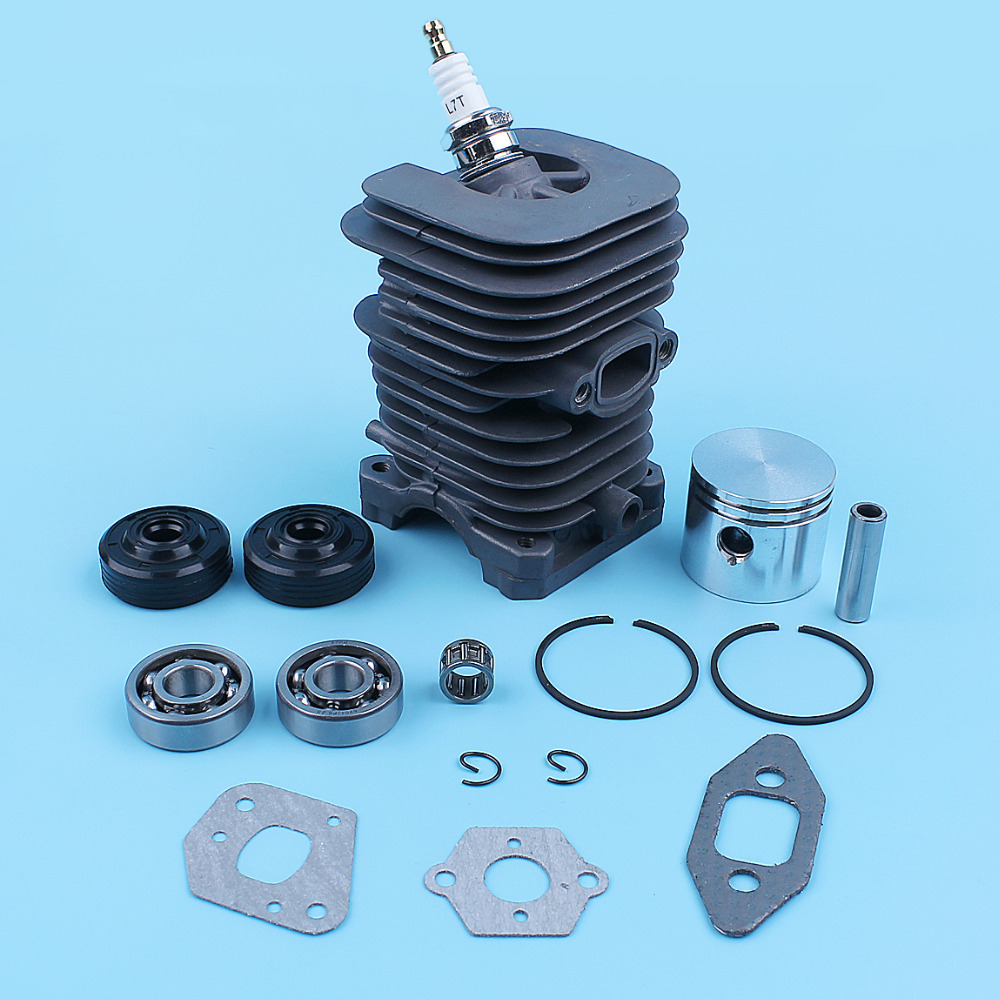 Tools : 41 1mm Cylinder Piston Crankshaft Bearing Oil Seal Kit For Partner Formula 400   5000 350 351 352 370 371 390 401 420 Chainsaw