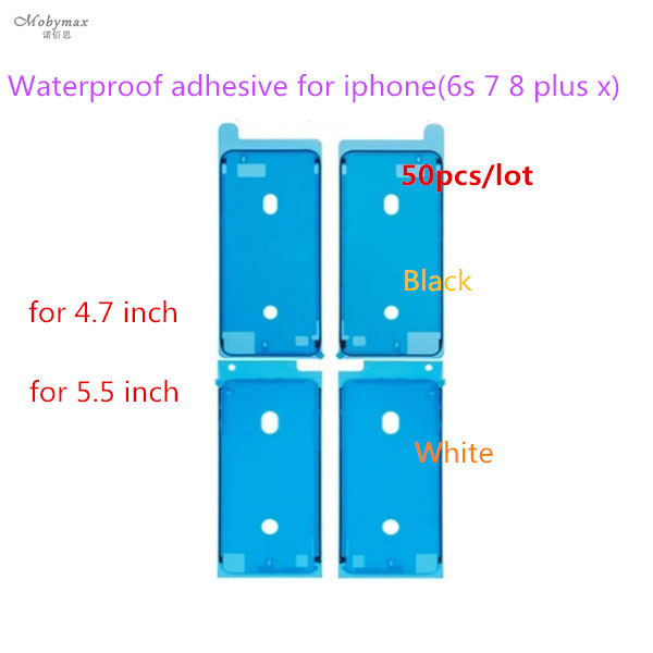 50PCS/LOT Original New Waterproof Adhesive Sticker For iPhone 6s 7 7 8 Plus X LCD Front Housing Frame For Iphone 6s plus