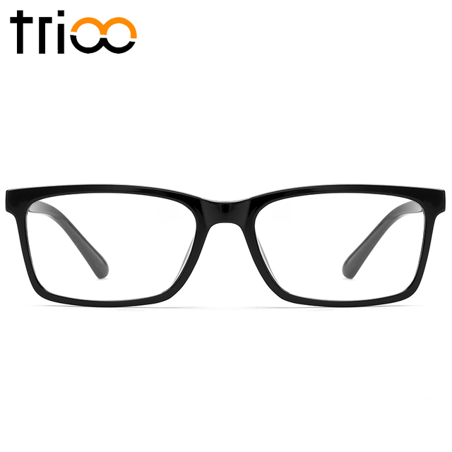06819e05b527c TRIOO Vidros À Prova de Luz Azul Quadrado Preto Quadro Óculos de Computador  oculos de grau