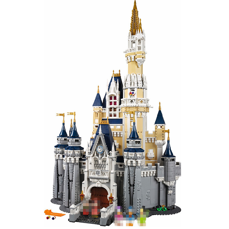 LEPIN 16008 Cinderella Princess Castle City Model Building Block Compatible 71040 Movie Series Christmas Gift lepin 16008 creator cinderella princess castle city 4080pcs model building block kid toy gift compatible 71040