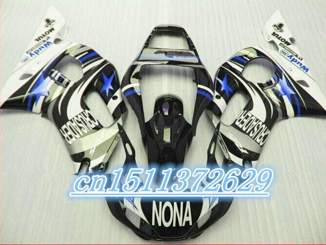 Dor-ABS black white fairings YZF R6 600 98 99 00 01 02  fairing kit YZF R6 1998-2002 1998 1999 2000 2001 2002 D