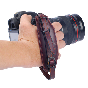 Image 5 - جلد طبيعي حزام اليد حزام DSLR كاميرا قبضة المعصم اليد حزام مع لوحة الإفراج السريع لكانون نيكون بنتاكس سوني.