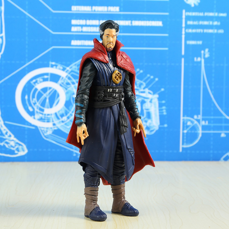 16cm Marvel Avengers Captain America Spider Man Venom Doctor Strange Captain Marvel Action Figure Doll Car Ornaments Model Toys in Action Toy Figures from Toys Hobbies