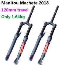 Мм 120 мм путешествия Manitou мачете PRO Велосипедный спорт вилы 27,5 размеры air S Mountain горный велосипед Подвеска матовый черный 2018