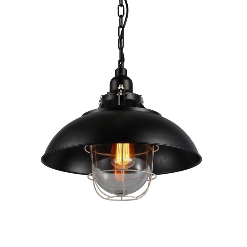 Loft Severská železná závěsná lampa Americká průmyslová skladiště kavárna restaurace hospoda ulička bar retro světlo retro vinobraní Lustr
