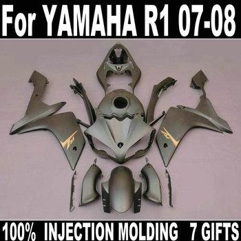Fairing kit for Yamaha injection molding fairing YZF R1 07 08 silver bodywork part fairings set YZFR1 2007 2008 BD13