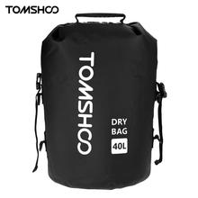 TOMSHOO 40L Outdoor Water-Resistant Dry Bag Sack Swim Storage for Rafting Boating Kayaking Canoeing Camping Travel Kits