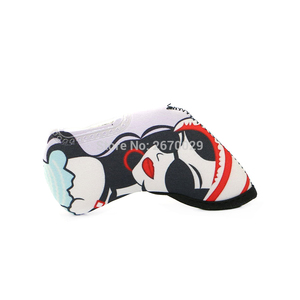 Image 5 - משלוח חינם מועדון גולף ראש ברזל Headcovers 9 יח\סט דופלקס הדפסת מועדוני גולף ראש כיסוי