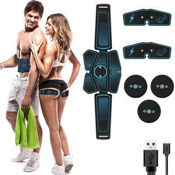 Abdominal Muscle Stimulator Toner Rechargeable Smart Abs Fitness Gear Electronic Electrostimulation Exercise Home Gym Equipment