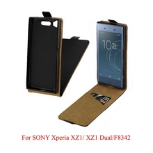 For Sony Xperia XZ1 F8342 Cover Luxury PU Leather Flip Case For Sony Xperia XZ1 Dual G8342 Vertical Open Down Up Cover 5.2'' смартфон sony xperia xz1 dual g8342 warm silver