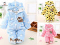 Baby Snowwear Cotton Padded One Piece Outerwear Children's Coveralls Hooded Baby Romper Kids Winter Jumpsuit Newborn Down Parkas