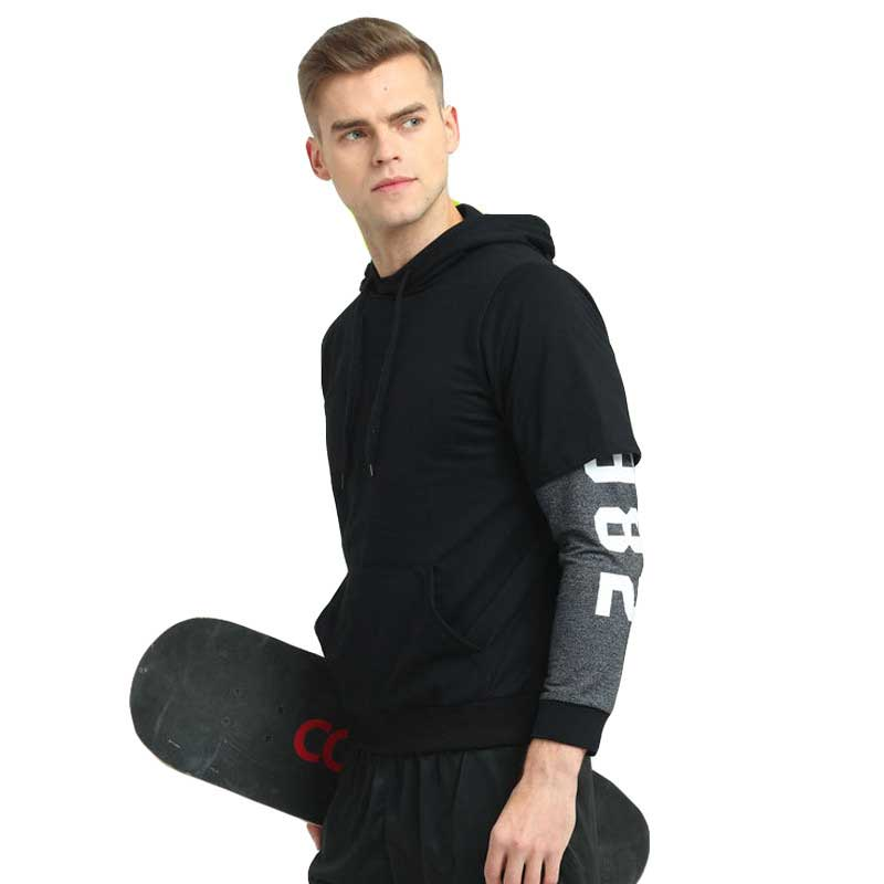 Men Quick Dry Cap Hoodie Sweatshirt Sport Jersey Compression Fitness Shirt Gymming Running Basketball Football Soccer Jacket 839