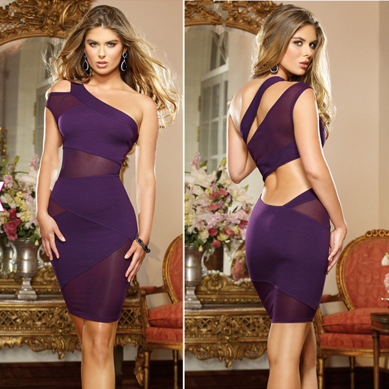 Online Get Cheap Purple and White Bodycon Dress -Aliexpress.com ...