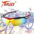 PANLEES спорт на открытом воздухе Очки поляризованные УФ очки Солнцезащитные Очки Мужчины гонки сменные 5 линзы голубые желтые линзы ночного видения