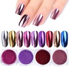 0.5g Nail Mirror Glitter Powder Metallic Color Nail Art UV Gel Polishing Chrome Flakes Pigment Dust Decorations Manicure TRC/ASX(China)