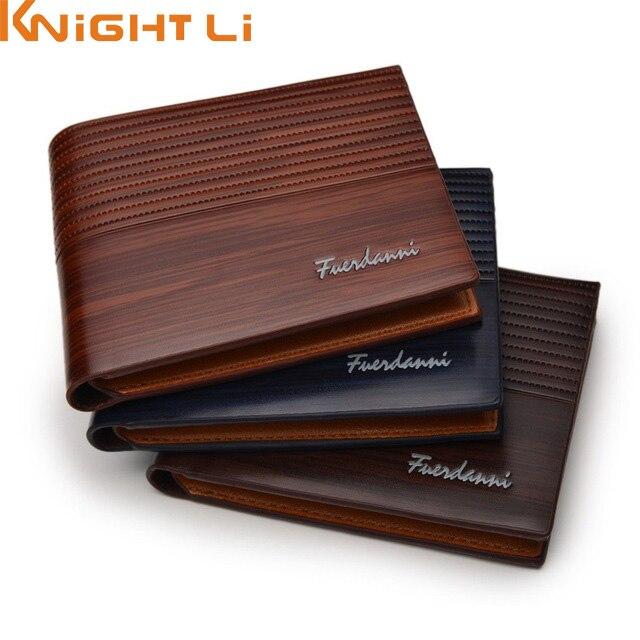 Wholesale Men PU Leather Short Wallet Male Card Holder Purse For Mens N272