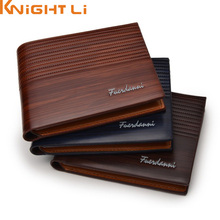 Wholesale Men PU Leather Short Wallet Male Card Holder Purse For Mens N272