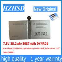 "7,5 V 38.2wh/5087mAh DYNR01 neue Original G3HTA027H Laptop Batterie Für Microsoft Oberfläche Pro 4 12,3 ""Tablet"