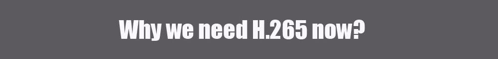 why we need h.265 now