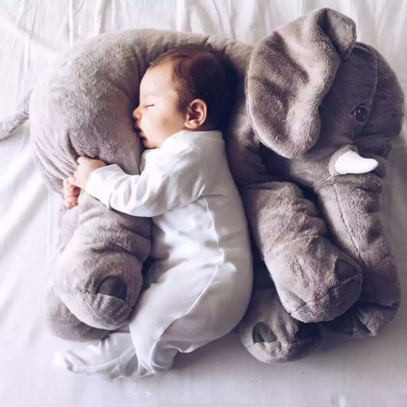 Free Dropshipping 55cm Colorful Giant Elephant Stuffed Plush Animal Toys Hobbies Animal Shape Pillow Dolls Toys Christmas gift