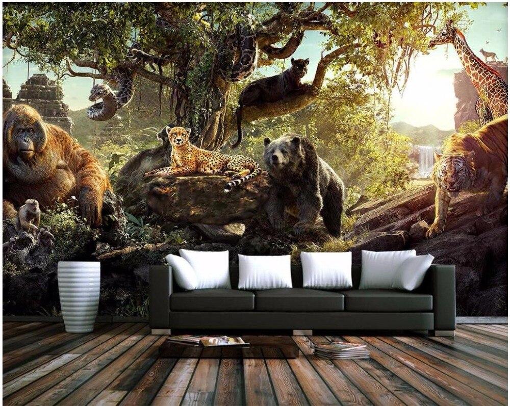 online get cheap forest animal wallpaper aliexpress com alibaba custom mural 3d wallpaper forest animal world decoration painting 3d wall murals wallpaper for living room