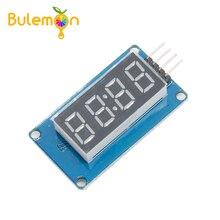 """4-разрядный светодиодный 0,3"""" Дисплей трубки, десятичная система 7 сегментов TM1637 часы с двойным точки модуль 0,36 дюймов красный Дисплей для Arduino"""