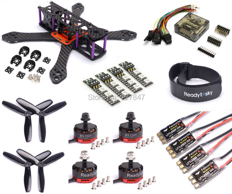 REPTILE Martian II 220 220mm Carbon Fiber Frame Kit F3 Flight Controller RS2205 2300KV Motor LittleBee 30A-S ESC BLHeli drone with camera rc plane qav 250 carbon frame f3 flight controller emax rs2205 2300kv motor fiber mini quadcopter
