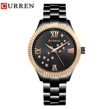 CURREN Women Dress Watches Ladies Quartz Crystal Design Wristwatch Simple Fashion Female Clock Hot Sale Women Gift reloj mujer  дамски часовници розово злато