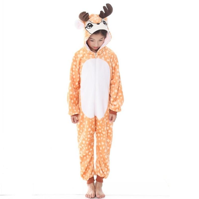 New Girls Winter Fleece Long Pyjamas Pink with Llamas PJs Sleepwear Size 3-7