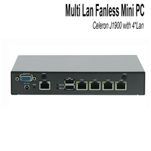 Barebone Mini Pc Quad Core J1900 VGA COM 2*usb Fanless X86 ,apply to router, firewall, proxy