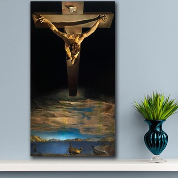 Christ of Saint John of the Cross by Salvador Dali Printed on Canvas 1