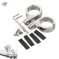 1 25 32mm Chrome Motorcycle Handlebar Mount Clamp Moto Handle Bar Clamps Case For Harley Heritage