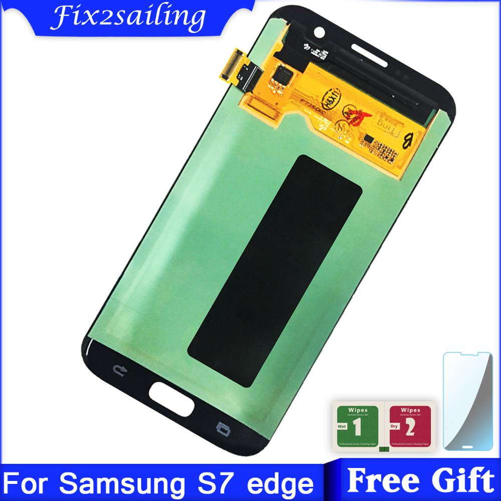Super AMOLED LCDs For Samsung Galaxy s7 edge G935 G935F LCD Display Touch Screen Digitizer Assembly Replacement partsSuper AMOLED LCDs For Samsung Galaxy s7 edge G935 G935F LCD Display Touch Screen Digitizer Assembly Replacement parts