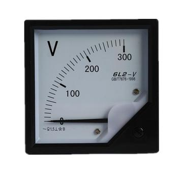 Free shipping 6L2 series 0-300V AC Voltmeter generator voltmeter 80x80mm suit for all the generator