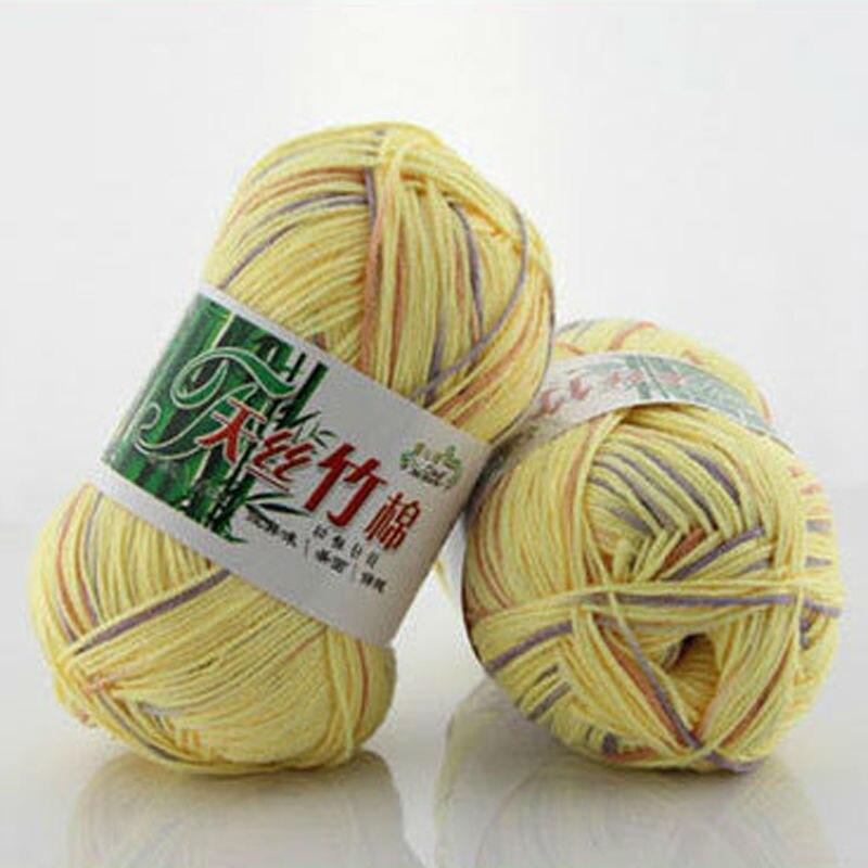 300 g / bolsa Hilo de lana de algodón de carbón de bambú tejido a - Artes, artesanía y costura