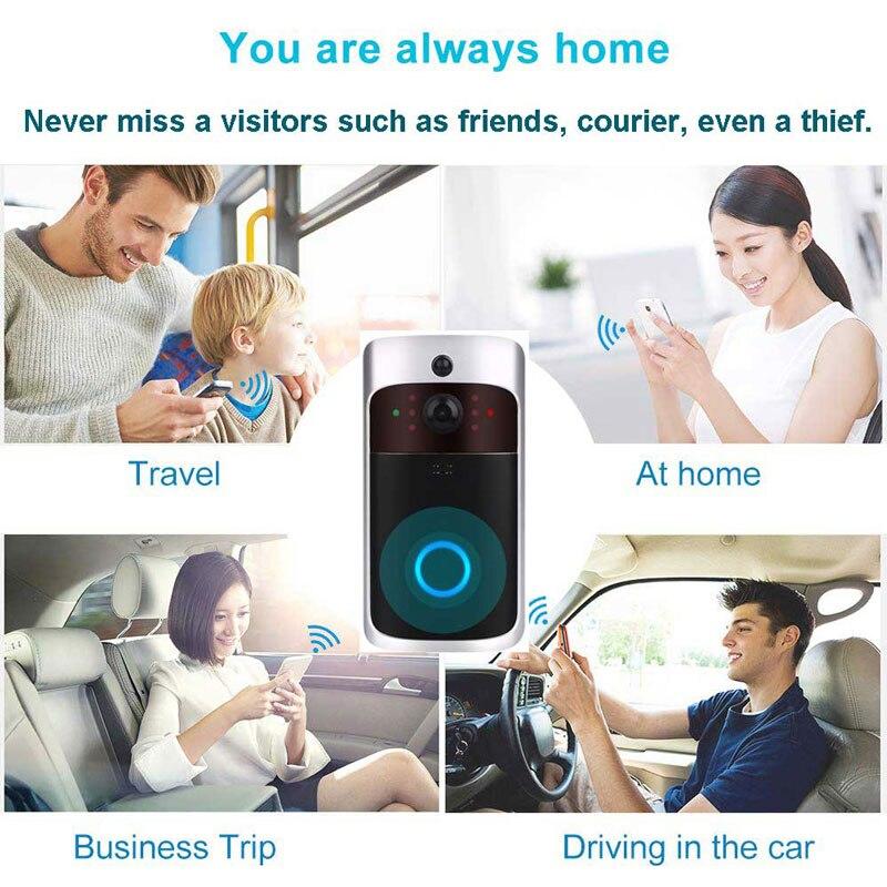 Купить с кэшбэком Smart WiFi Video Doorbell Camera Visual Intercom Gateway Night Vision Video Door Phone Bell  IR Alarm Wireless Security Camera