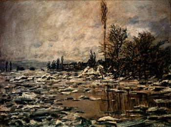 High quality Oil painting Canvas Reproductions The Break-up of the Ice (1880)By Claude Monet hand painted