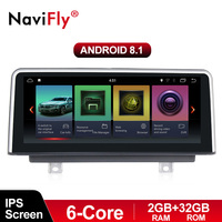 NaviFly 6 core PX6 Android 8.1 car radio multimedia player for BMW F30/F31/F34/F20/F21/F32/F33/F36 original NBT system 2013 2017