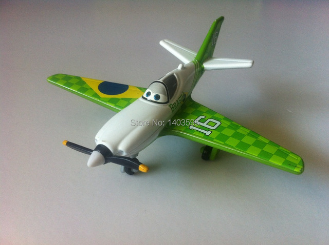 Pixar Planes No.16 Miguel Brazil Metal Diecast Toy Plane 1:55 Loose New In Stock & Free Shipping