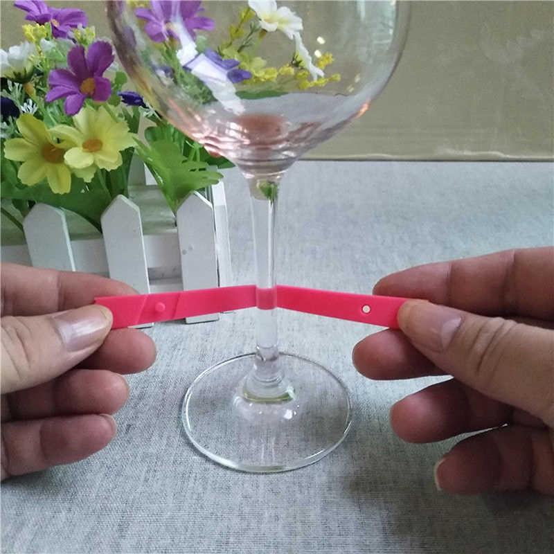 6 шт./компл. тип шарфа силиконовая бутылка логотип вина стеклянные украшения стеклянная винная этикетка распознаватель чайная кружка метка на чашку