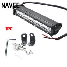 1pc Slim Single Row Offroad Fog font b Lamp b font 18W 6LED DC10 30V Car