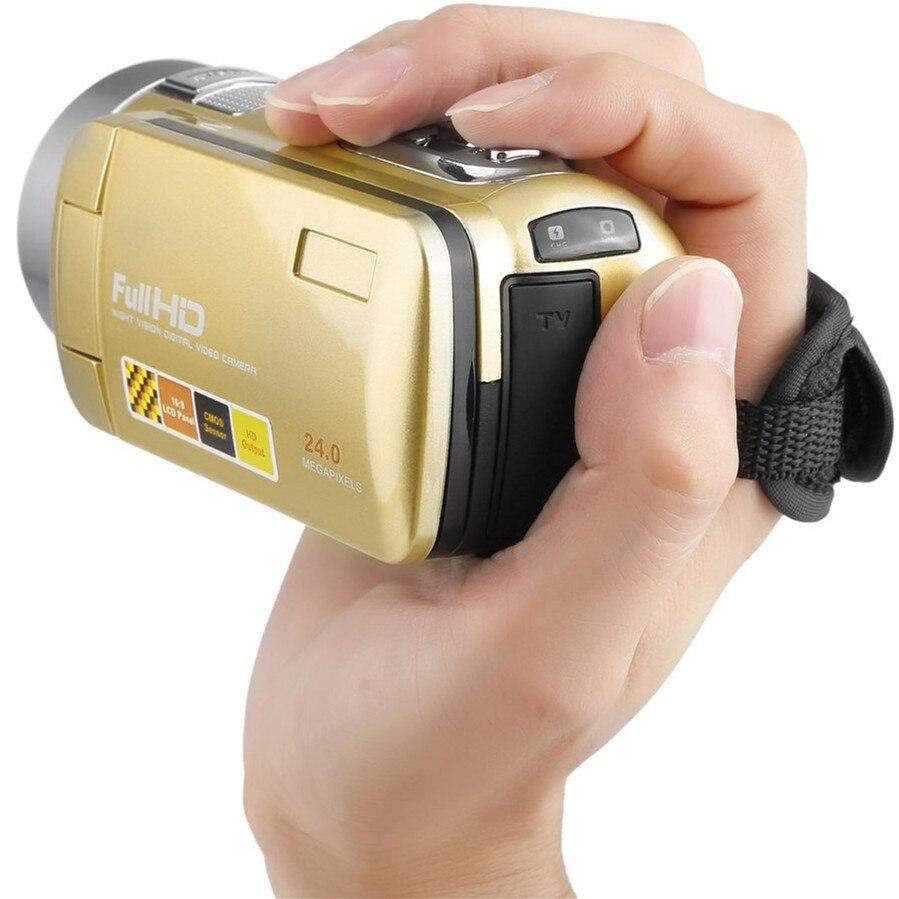 HOT Portable Vision nocturne Full HD 1920x1080 3.0 pouces 24MP LCD écran tactile 18X Zoom numérique caméra caméscope DV 2017 nouveau