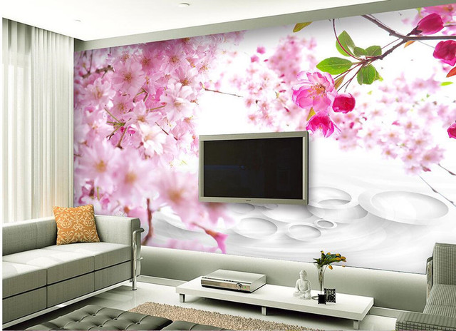 Modern fashion aesthetic peach 3D wallpaper papel de parede, living ...