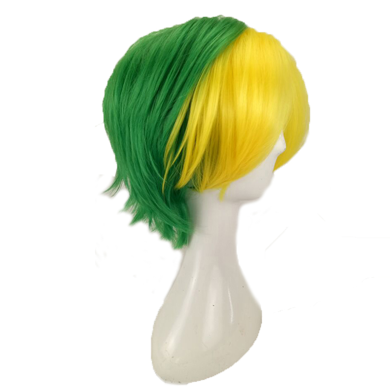 HAIRJOY Synthetic Hair Man Mint Green Layered Short Straight Male Cosplay Wig Free Shipping 5 Colors Available 63
