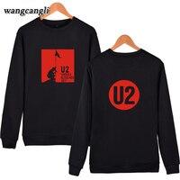 F U2 Hombres/Mujeres Sudadera Con Capucha de Algodón sweathshirt Kpop Sin Tapa Ropa Rocoso Banda U2 Impreso Sudaderas Pullovers hoodies hombres sudadera