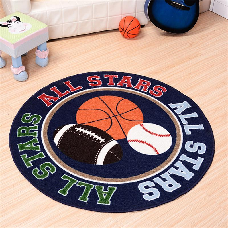 100CM Round Cartoon Football Doormat Boys Bedroom Rugs And Carpets Computer  Chair Area Rug Cloakroom Toilet Carpet Kids Play Mat. Online Get Cheap Boys Room Rugs  Aliexpress com   Alibaba Group